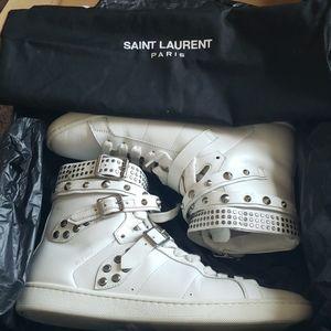 Saint Laurent white high tops